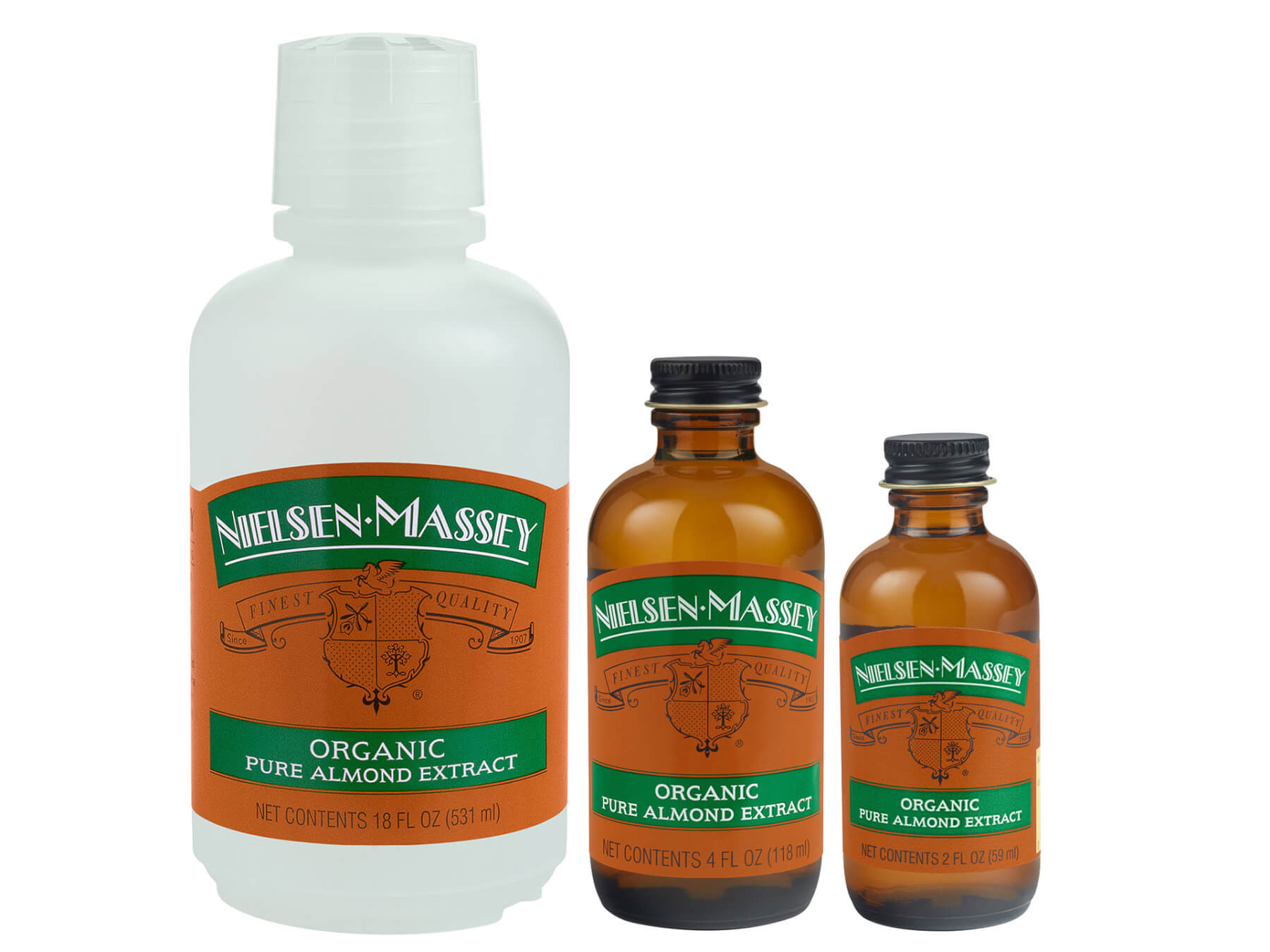 Organic Pure Almond Extract Family