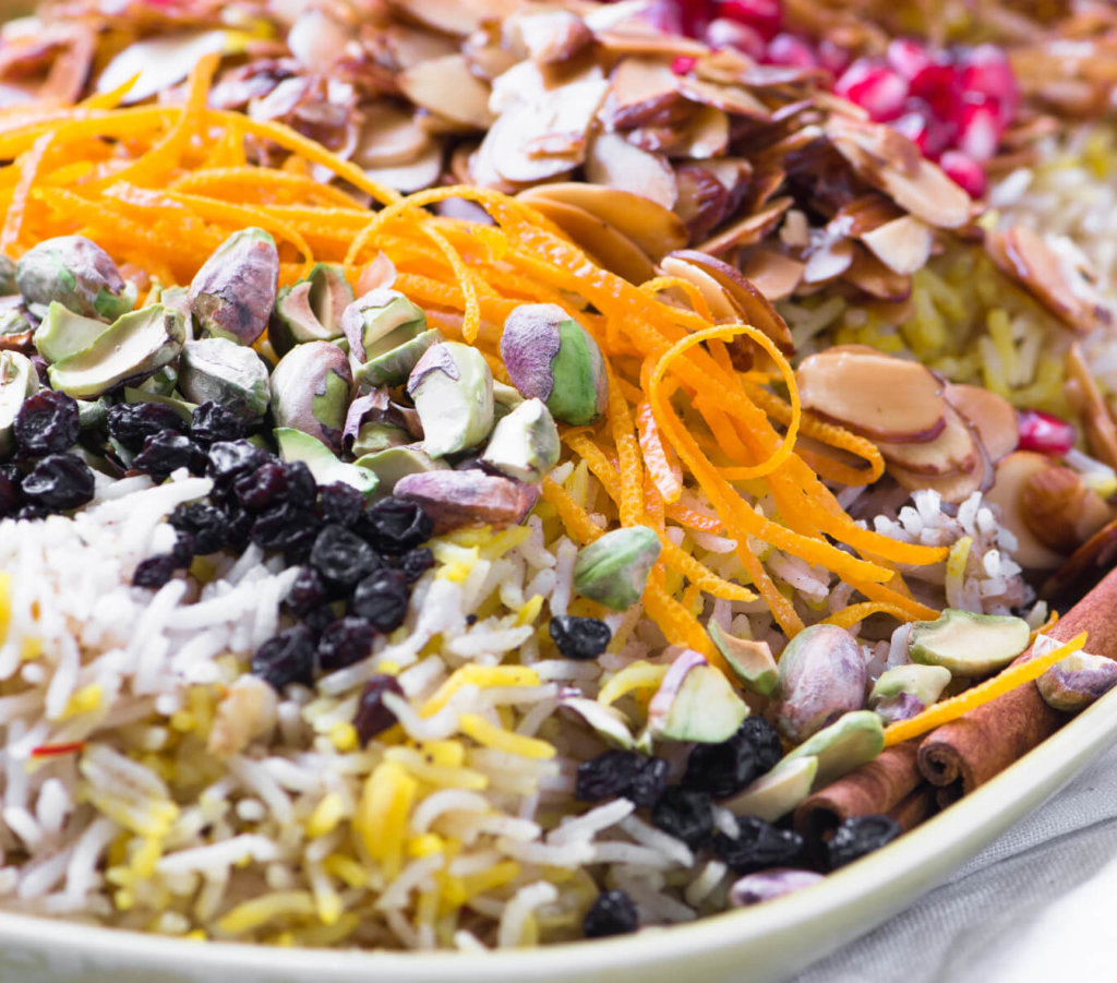 Fragrant Toasted Almond Pilaf